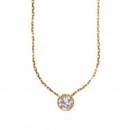 SOLOGRIFFES collier solitaire diamant