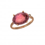 INDIAN SONG Bague tourmaline rose