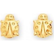 Boucles d'oreilles Or jaune - Puces Coccinelles or