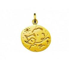 Medaille Ange Jean Charles de Castelbajac 18 mm or jaune