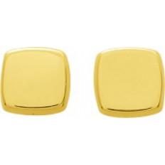 Puces carrées - Or jaune