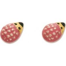 Boucles d'oreilles Or jaune - Hérissons roses
