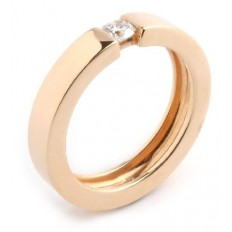 Solitaire Or rose Diamant - Pimento R