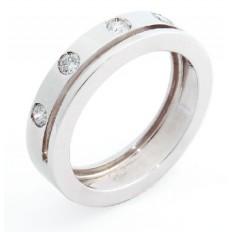 Bague Or blanc Diamants - Roberta