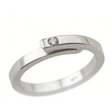 Solitaire Or blanc Diamant - ceinture  1