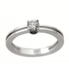 Solitaire Or blanc Diamant - Nina