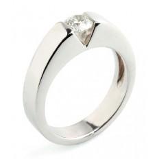 Solitaire Or blanc Diamant - Vérité