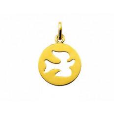 Medaille Or jaune  - Colombe à l'Envol - Arthus Bertrand