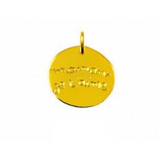 Medaille Or jaune  - Maman je t'aime - Arthus Bertrand