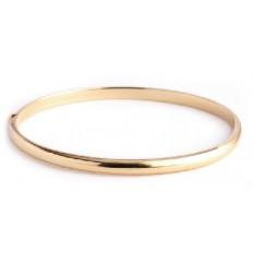 Bracelet Or jaune - Demi Jonc Bombe
