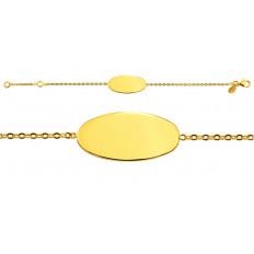 Identité bébé Calisson chaîne forçat miroir or jaune
