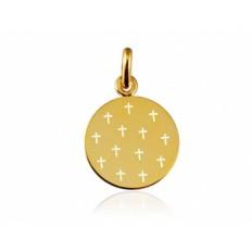 Médaille Ajourée de 13 Croix 14 mm or jaune