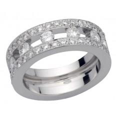 Bague Or blanc Diamants - Emma XL
