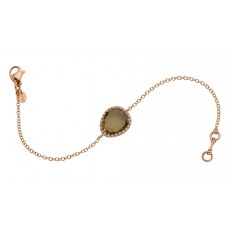 Bracelet Or rose Quartz Olive - Greta