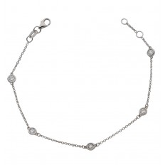 Bracelet Or Diamants - Essentiel