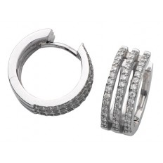 Boucles d'oreilles Or blanc Diamants - Robertine
