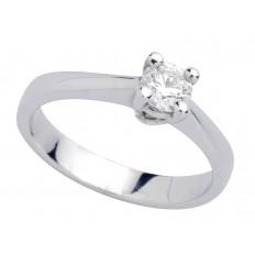 Solitaire Or blanc Diamant - Classic