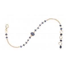 Bracelet Sable - Or rose - Saphirs Bleus