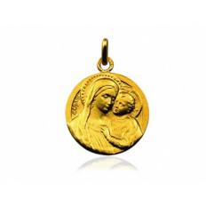 Notre Dame du Bon Conseil 18 mm or jaune
