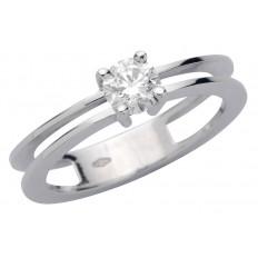 Solitaire Or blanc Diamant - Nina L