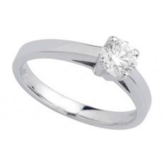 Solitaire Or blanc Diamant - Astre